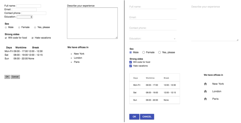 Beautify your Form with Material Design / Webagility